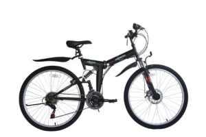 Ecosmo 26SF02BL–Vélo pliant (suspension, plus de 18vitesses)