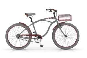 Vélo cruiser modèles MBM ALOHA hommes avec contropedale (Cool Gray/Oxide Red)