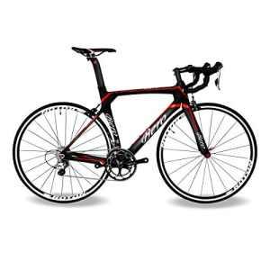 BEIOU® 2016 700C Route Shimano 105 Bike 5800 11S Vélo de course T800-M40 en fibre de carbone Aero cadre 18.3lbs ultra-légers CB013A-2 (Matte Black & Red, 560mm)