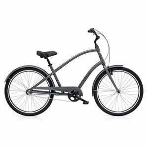 'Electra 286101Townie Original 3i 26Beach Cruiser Mens 3vitesses vélo pour homme Gris, 181120