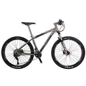 SAVA Titane 27,5 » Vélo de Montagne Complete Pro Tail dur VTT Vélo SHIMANO 8000 22 Vitesse Manitou Air Suspension Fork Maxxis Tire et Fizik Selle
