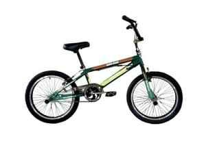 F.lli Schiano Bmx Freestyle Hard Road Vélo Garçon, Vert Foncé/Vert Clair, Taille 20″