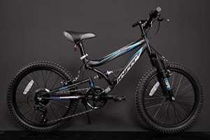 Vélo pour enfant VTT 20'' Fully Shimano, Noir