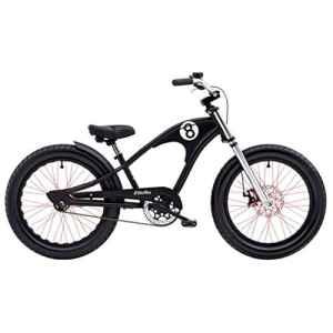 Electra Straight 820pouces Enfant vélo 3vitesses garçon Beach Cruiser Kids Roue Noir, 528801