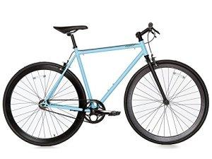Moma Bikes BIFIXA54 Vélo de Ville Mixte Adulte, Bleu, Taille : M-L