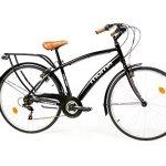 Moma Bikes Bimannun Vélo de Ville Mixte Adulte, Noir