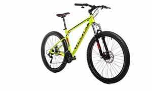Moma Bikes Vélo VTT, Plus 27,5″, Aluminium, Shimano 21V, Freins a Disque, Suspension Avant (Plusieurs Tailles)