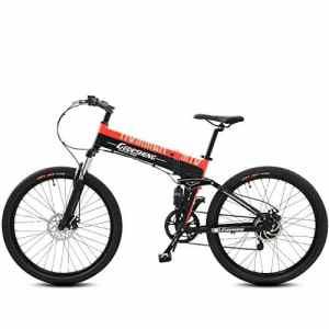 GTYW, électrique, Pliant, Vélo, Montagne, Vélo, Cyclomoteur Adulte, 70KM Et 1W Km en Charge Gratuite De Deux Versions,Orange-10000km