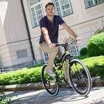 VTT Mountaineer Kodiak de Shimano, 21 vitesses, 26″, adapté à 150 cm, avec frein à disque, boîte de vitesses, suspension intégrale – Vélo pour adolescent et homme , vert