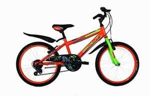 FREJUS DM1U20106 Vélo btt pour Enfant Garçon, Orange, Taille : 20 Pouces