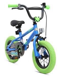 BIKESTAR Vélo Enfant pour Garcons et Filles de 3-4 Ans ★ Bicyclette Enfant 12 Pouces BMX avec Freins ★ Bleu & Vert