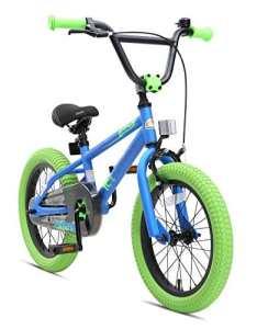 BIKESTAR Vélo Enfant pour Garcons et Filles de 4-5 Ans ★ Bicyclette Enfant 16 Pouces BMX avec Freins ★ Bleu & Vert