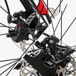 Eurobike Vélo de route Xc55021speed Shimano Gears Route Vélo double Frein à disque pour vélo, 49cm 3-Spoke wheel