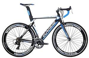 Eurobike Vélo de Route Xc700014Speed Light Cadre en Aluminium 700C Route Vélo, Bleu