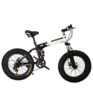 WJSW Vélo Pliant de vélo de Montagne 26 Pouces avec Cadre en Acier très léger, vélo Pliant à Double Suspension et Vitesse à 27 Vitesses, Noir, 24 Vitesses