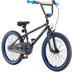 BIKESTAR Vélo Enfant pour Garcons et Filles de 6 Ans | Bicyclette Enfant 20 Pouces BMX avec Freins | Noir & Bleu