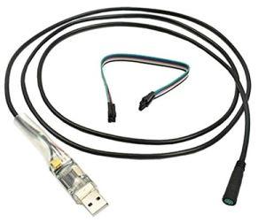 ARUNDEL SERVICES EU 8fun Câble de Programmation USB Bafang Vélo électrique pour BAFANG BBS01 BBS02 Mid Drive Bafang