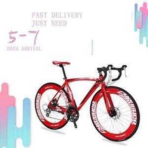 Cyrusher XC700 Vélo De ville/route 700C x 70mm avec 14 Vitesses -Cadre En Aluminium -Freins Mécanique –SHIMANO Dérailleur