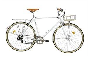 FabricBike Classic- Vélo de Ville (M-53cm, Classic Matte White Deluxe)