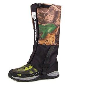 KceEo Legging imperméable Double Couche pour Chasse, Marche, Escalade, guêtres de Neige Camouflage