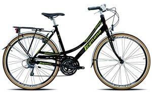 Legnano Ciclo 301Ventimiglia – Vélo de ville pour femme, femme, 5L301N, noir/vert, 44