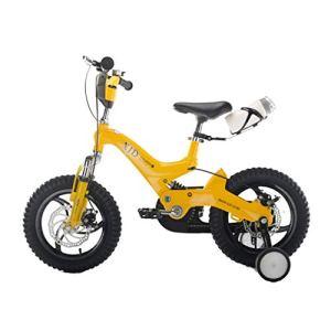 Llq2019 Vélo pour Enfant Bleu Garçon Vélo élégant Fille 3-6 Ans Vélo Enfant 14,16″ Alliage de magnésium Vélo de Montagne Vélo de Sport, Alliage de magnésium, Bleu, 16INCHES