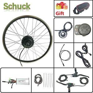 Schuck Kit de Conversion de vélo électrique 24» 48 V 500 W sans balais pour vélo électrique avec écran LED900S