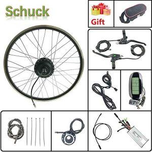 Schuck Kit de Conversion de vélo électrique 27,5″ 48 V 500 W sans balais pour Roue Avant vélo électrique avec écran LCD 6