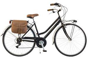 Via Veneto by Canellini Bici Vélo Citybike Byciclette CTB Femme Dame Vintage Retro Via Veneto Acier (Noir, 46)