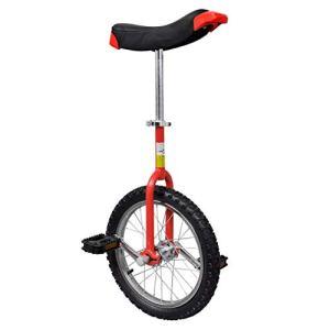 vidaXL Monocycle Ajustable Rouge 16 Pouces pour Enfants Jeunes Monocycles Débutants