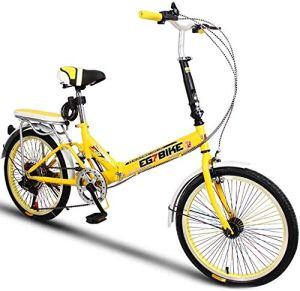 XIUYU Vélos Pliable Ultra léger Portable vélo Pliant Mini Petite Vitesse de Roue Shock Absorption (20 Pouces / 16 Pouces) (Color : 4 , Size : 16in )