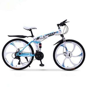 ZTYD VTT Vélo Pliant, 30 Speed Double Frein à Disque Suspension Avant Anti-Glissement, Variable Hors Route Vélos de Course de Vitesse pour Les Hommes et Les Femmes,B2,26 inch