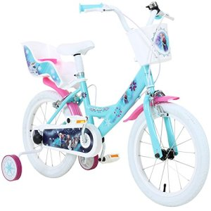 Disney Vélo d'enfant 16 pouces/40,6 cm Thème La Reine des neiges Elsa