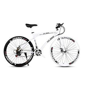 LRHD Les Vélos de route de femmes et d'hommes, 24 vitesses Vélos 26 pouces, adultes, Cadre en acier au carbone à haute, Route de vélos de course, roues Vélo de route à double disque de frein vélo (bla
