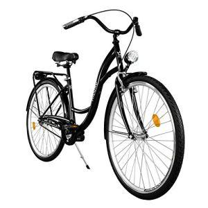 Milord. 2018 Vélo de Confort, Byciclette, Vélo Femme, Vélo de ville, 1 Vitesses, Noir, 28 Pouces