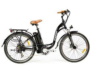 Moma Bikes Vélo Electrique VAE De Ville, E-26, Aluminium, Shimano 7V, Freins a Disque Bat. ION Lithium 36V 16Ah