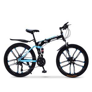 XWDQ Pliant Vélo De Montagne Vélo 20/24/26 Pouce Mâle Et Féminin Étudiants Vitesse Variable Absorption des Chocs Adulte,26inch,21speed