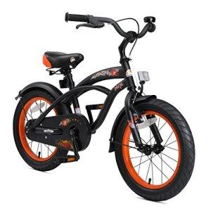 Bikestar Vélo enfant pour garcons et filles de 4-5 ans ★ Bicyclette enfant 16 pouces cruiser avec freins ★ Noir