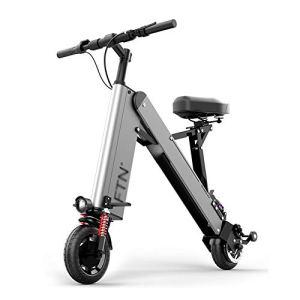 Mini Pliage Vélo électrique,Ultra Léger Portatif VTT Pliant pour Hommes Femmes Déplacement en Ville,Lithium-ION E-Bike,Vitesse Maximale 25km/h Argent 350w 36v