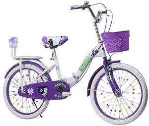 Pkfinrd Pliable Hommes et Femmes vélo Pliant – Pliant Enfants de vélo 6-18 Ans Princesse vélo Enfants de Pouce 18-22 Pied Vélo, Rose, 20inches (Color : Purple, Size : 20inches)