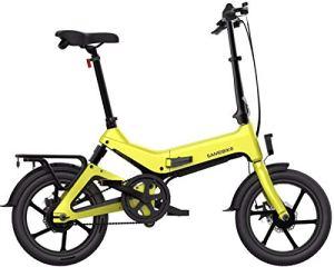XCBY VéLo éLectrique Pliant, Bicyclette éLectrique – Moteur 350 W, 36 V 7,5 Ah, Chargement USB Yellow