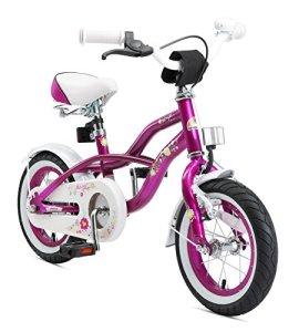 Bikestar Vélo Enfant pour Garcons et Filles DE 3-4 Ans ★ Bicyclette Enfant 12 Pouces Cruiser avec Freins ★ Violet