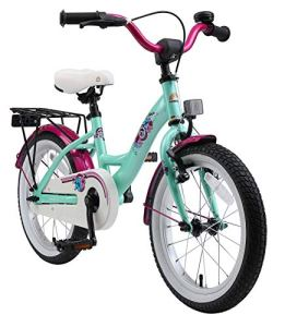 BIKESTAR Vélo Enfant pour Garcons et Filles de 4-5 Ans | Bicyclette Enfant 16 Pouces Classique avec Freins | Menthe
