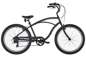 Electra Cruiser Lux 7D Herren Fahrrad Matt Schwarz 26 Zoll Beach Cruiser Retro Rad 7 Gang Schaltung, 539768
