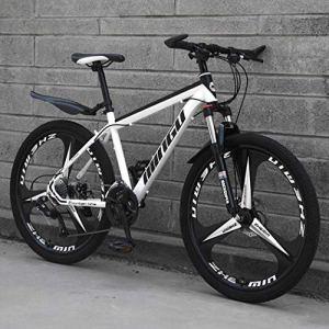 Langlin 26 Pouces Adulte VTT Vélo Une Roue Hors Route à Vitesse Variable Hommes Femmes VTT Vélo Tout Terrain VTT avec siège réglable,05,26″ 27 Speed