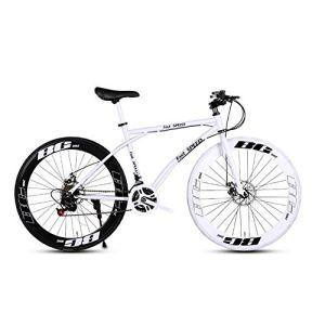 LRHD Les Vélos de route de femmes et d'hommes, 24 vitesses Vélos 26 pouces, adultes, Cadre en acier au carbone à haute, Route de vélos de course, roues Vélo de route à double disque de frein Vélos (no