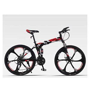 QGL-HQ Sports de Plein air VTT HighCarbon Acier 26 Pouces VTT 24 Vitesse Offroad Adulte Vitesse Montagne Hommes et Femmes de vélos Sports de Plein air Mountain Bike (Color : Red)