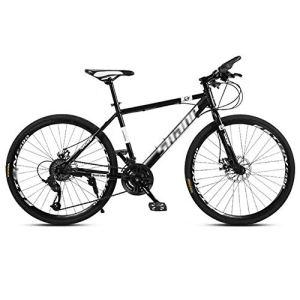 tools BMX Dirt Vélos de Route Vélo de Montagne Vélo de Route VTT Homme 24 Vitesse 24/26 Pouces Roues for Adultes Femmes (Color : Black, Size : 26in)