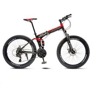 tools BMX Dirt Vélos de Route VTT Pliant Vélo de Route Vélos de VTT 21 Vitesse Hommes Roues for Adultes Femmes (Color : Red, Size : 24in)