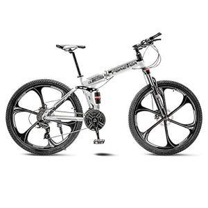 tools BMX Dirt Vélos de Route VTT Vélo de Route Pliant Vélos de VTT Hommes 21 Vitesses 24/26 Pouces Roues for Femmes Adultes (Color : White, Size : 26in)